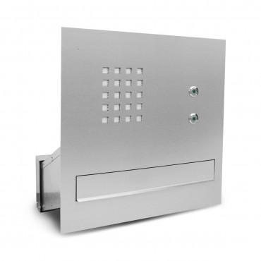 Skrzynka na listy do wmurowania z domofonem 1 szuflada, 2 przyciski 6PP N MR2 - 2