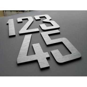 Numer, cyfra na dom, elewację nierdzewna 18 cm