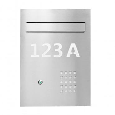 Skrzynka na listy dwustronna z domofonem z podświetlanym numerem domu WPN 20 MR2 IND