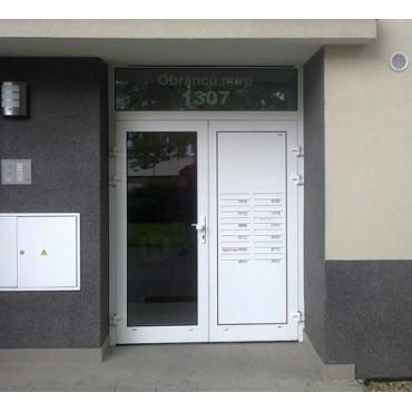 Euro skrzynki lokatorskie w drzwi - drzwiowe