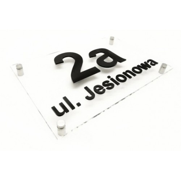 Tabliczka z napisem na dom duża transparent 30x40 cm - TAB_B-U1
