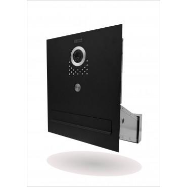 Skrzynka na listy do muru z wideodomofonem czarna 6PPC VIDOS S 551