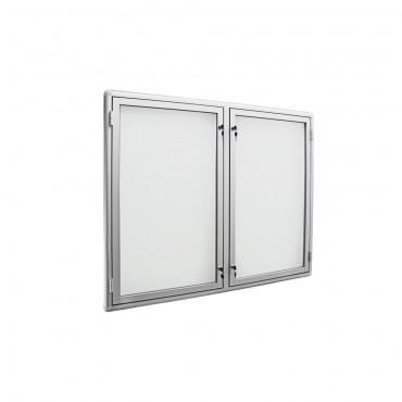 Tablica na ogłoszenia dwudrzwiowa aluminiowa 100x80x3cm DS3