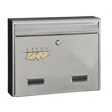 Nierdzewna skrzynka pocztowa H17 format C4 - w2n
