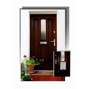 Skrzynka na listy przerzutowa w drzwi 76N