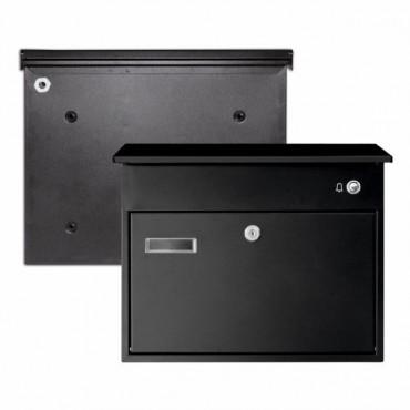 Skrzynka pocztowa z przyciskiem dzwonka - czarna